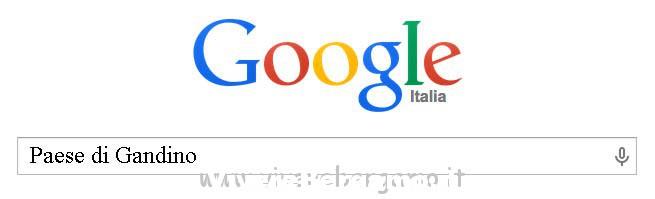 ricerca su google paese di Gandino bergamo