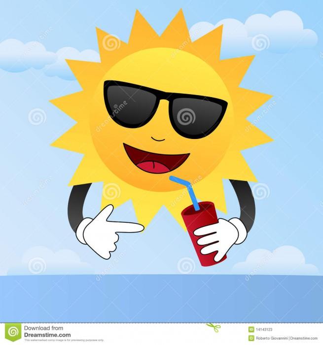 fumetto-sun-con-gli-occhiali-da-sole-14143123