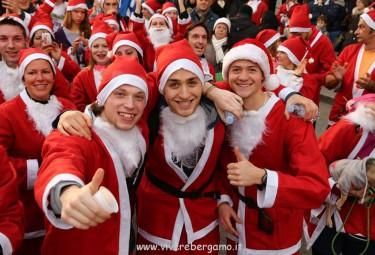 La Corsa di Babbo Natale a Bergamo il 20 Dicembre 2015