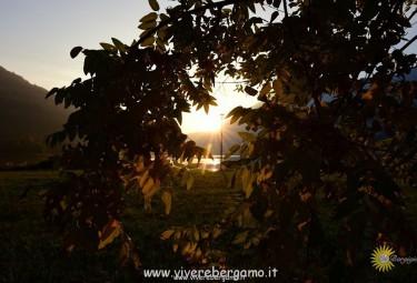 tramonto lago endine