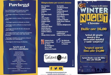 Programma winter Night Clusone 2015