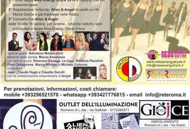 Miss Energy Drink&Casting Cinema Romano di Lombardia