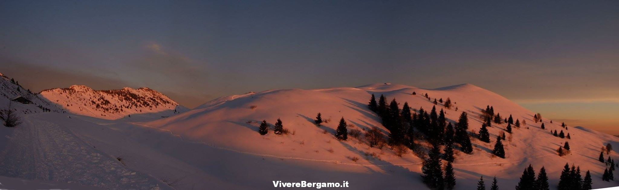 Panoramica Pizzo formico con neve
