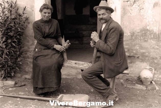 Vita contadina Vivere Bergamo