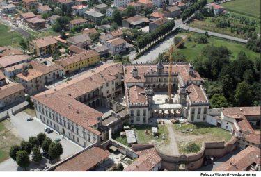 Palazzo Visconti vista aerea