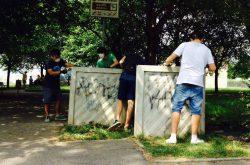Volontari giovani a Bergamo