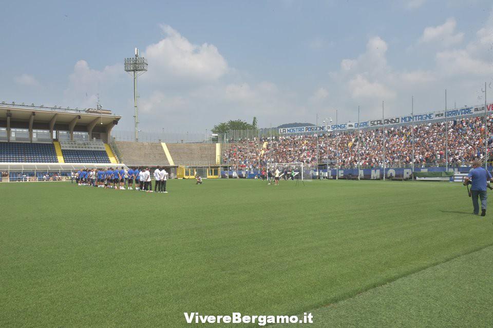 Stadio atalanta Vista dal campo