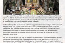 Storia Apparizione Madonna Borgo Santa Caterina Bergamo