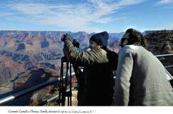 Carmelo Camili e Thomas Torelli durante le riprese al Grand Canyon