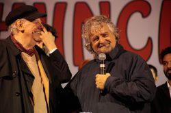 Dario Fo con Beppe Grillo