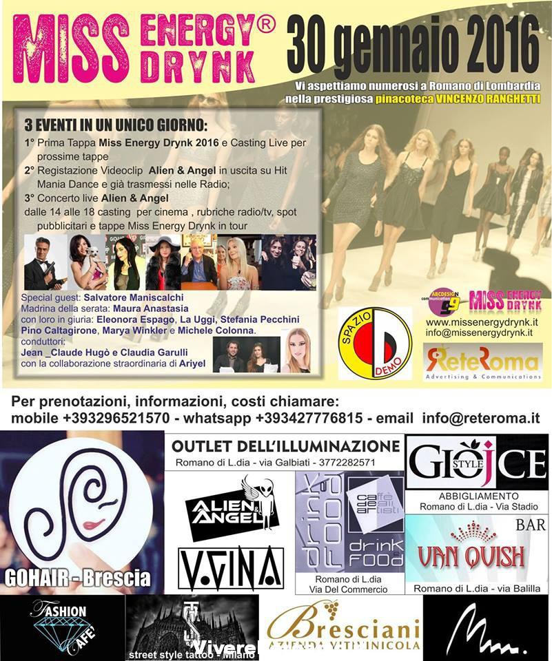 Miss Energy Drink&Casting Cinema Romano di Lombardia