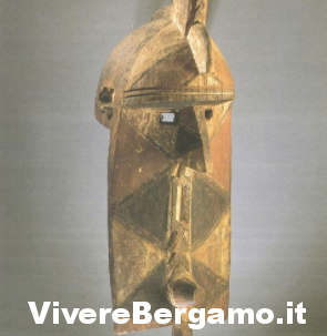 Maschera antropomorfa del Museo Caffi Bergamo