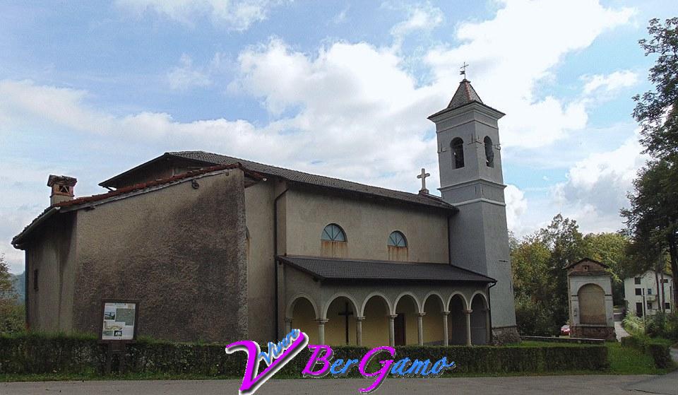 Vedeseta Bergamo santuario di S. Bartolomeo XIII, antica parrocchiale di Vedeseta