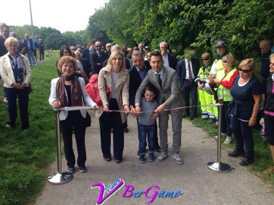 Inaugurazione pista ciclabile Seriate 23 maggio 2015
