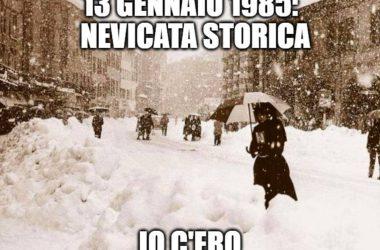 Nevicata 1985 Provincia di Bergamo
